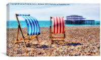 Deckchairs Brighton Beach, Canvas Print