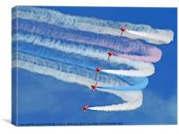 Smokin !! - The Red Arrows - Duxford 26.05.2013, Canvas Print