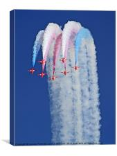Reaching For The Sky - The Red Arrows, Canvas Print