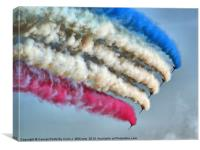 Cookin On Gas !! - The Red Arrows - Duxford 26.05., Canvas Print