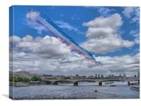 Red Arrows Over London, Canvas Print