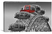 The Red Pod - The London Eye, Canvas Print