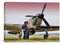 Hurricane - Duxford Flying Legends 2013, Canvas Print