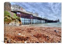 Brighton Pier And Beach, Canvas Print