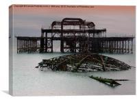 The West Pier Brighton, Canvas Print
