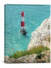 The Lighthouse From Beachy Head, Canvas Print