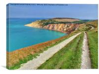 Alum Bay Isle of wight 3, Canvas Print