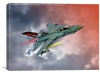Storming !! Tornado GR4 617 Squadron, Canvas Print