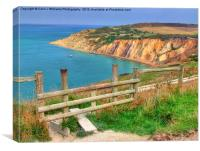 Alum Bay Isle of wight 2, Canvas Print