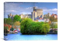 Windsor Castle and the River Thames, Canvas Print
