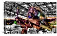 Avro Lancaster 1 - Hendon, Canvas Print