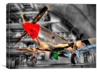 North American P-51D Mustang - Hendon, Canvas Print