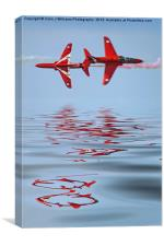 Synchro Reflections - Dunsfold 2013, Canvas Print