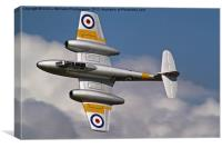 The Gloster Meteor, Canvas Print