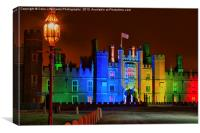 Hampton Court Palace at Christmas, Canvas Print