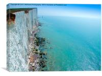 Chalk Cliffs near Beachy Head, Canvas Print