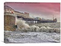 A Windy Day - Brighton Pier, Canvas Print