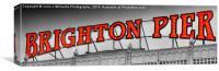 Brighton Pier Sc 3, Canvas Print