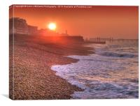 Brighton Seafront Sunrise 1, Canvas Print