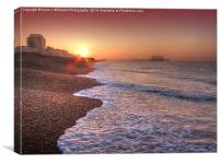 Brighton Seafront Sunrise 2, Canvas Print