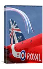 The Reds - 50 Display Seasons - Farnborough 2014, Canvas Print