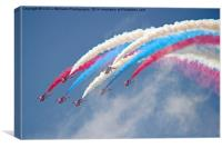 Looping Through Cloud - The Red Arrows., Canvas Print