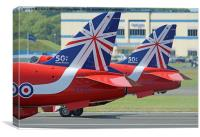 The Reds - Ready To Roll ! - Farnborough 2014, Canvas Print