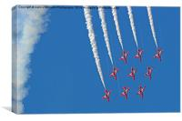 Diamond Nine Loop - The Red Arrows !!, Canvas Print