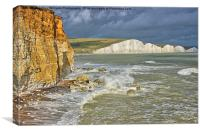 The Seven Sisters From Hope Gap, Canvas Print