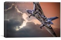Vulcan XH558 takes off at Farnborough 2014, Canvas Print