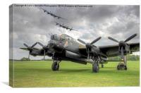 3 Lancasters - East Kirkby Flypast, Canvas Print