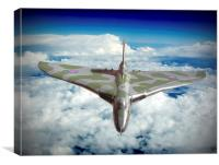 Vulcan XH558 In The Sky !!, Canvas Print
