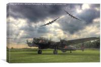 The Prince`s Break - The 3 Lancasters, Canvas Print
