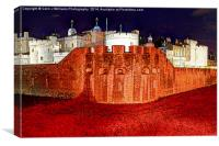 The Tower of London Poppies 2, Canvas Print