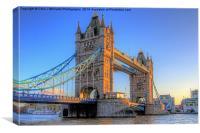 Tower Bridge The Golden Hour, Canvas Print