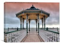 Brighton and Hove Bandstand - 1, Canvas Print