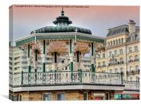 Brighton and Hove Bandstand - 2, Canvas Print