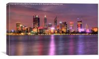 Perth WA  at Night, Canvas Print