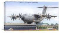 Airbus A400M Atlas Landing - Farnborough 2014, Canvas Print
