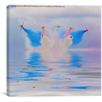 Red Arrows Flood Break, Canvas Print