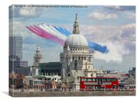 The Red Arrows And Saint Pauls Cathederal, Canvas Print