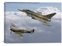 Spitfire and Typhoon Battle of Britain 3, Canvas Print