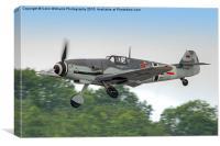 Messerschmitt bf 109g Red 7 Takes off, Canvas Print