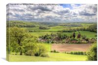 The Village Of Turville, Canvas Print