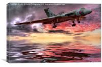 Sunset on The Vulcan, Canvas Print