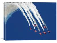 The Red Arrows RIAT 2015 1, Canvas Print
