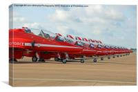 The Red Arrows RIAT 2015 4, Canvas Print