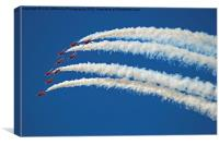 The Red Arrows RIAT 2015 5, Canvas Print