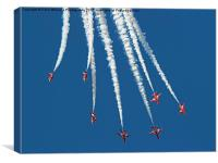 The Red Arrows RIAT 2015 9, Canvas Print