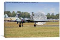 Avro Vulcan Landing Riat 2015, Canvas Print